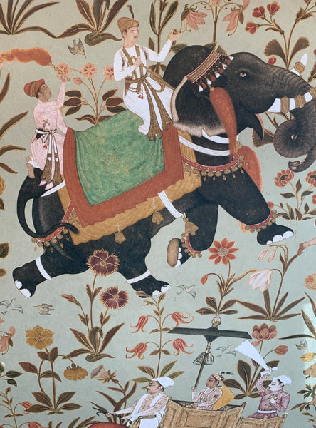 Ethnic Indian Elephant Design Wallpaper - Hindustan Design Wallpaper