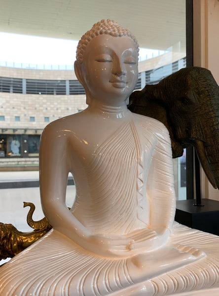 White Buddha Statue Large – Asian Buddha Sculpture