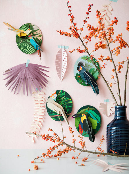 Grey Parrot  – Tropical Bird Wall Decoration 3D Object to Build