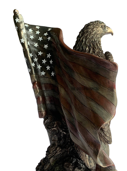 Animal Sculpture – American Bald Eagle – American Flag & Stars
