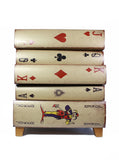 Playing Card Drawers - Alice in Wonderland Chest of Drawers - Play card Theme Home Furniture Cabinet