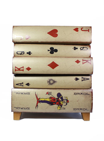Alice in Wonderland Playing-Card Drawers, Alice in Wonderland Chest of Drawers, Wedding decor Gift
