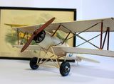 Vintage model plane - Biplane Model - Aeroplane Nursery Decor - Collectable