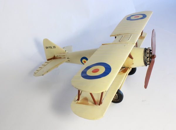 Vintage model plane - Biplane Model - Aeroplane Nursery Decor - Collectable Models