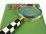 Magnifying Glass - Alice In Wonderland - Black & White Stripped Handle