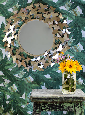 Butterfly Wall Mirror, Girls Wall Decor, Gold Butterfly Mirror, 2018 Trends