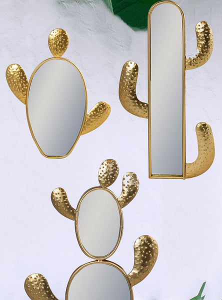 Cactus Design Wall Mirrors - African Inspired - Botanical Living