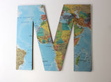 Wooden Map Letters, Travel Map Theme Wedding Decor, Personalised Letters
