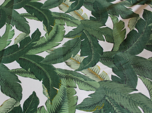 Tommy Bahama Aloe Fabric – Banana Leave fabrics for Home Decor - UV Protected Outdoor Textile  – Price per Yard