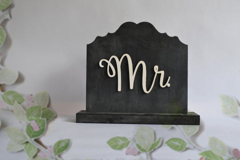 MR. & MRS. SIGN  Chalkboard Free Standing Sign, Rustic Wedding