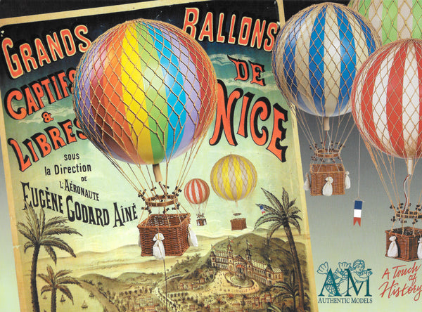 Hot Air Balloon  - Vintage Balloons - Nursery Decoration Medium Size