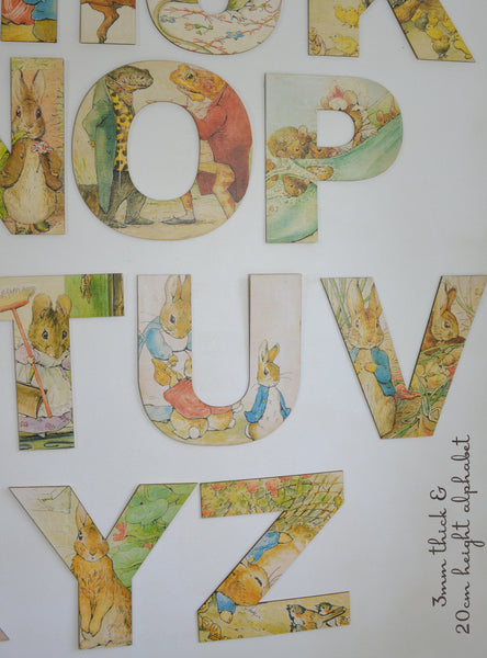 Beatrix Potter Wooden Alphabet Letters Peter Rabbit