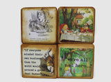 Alice In Wonderland Classic Vintage Wooden Blocks – Personalise Baby Name Blocks – Vintage Classic English Story