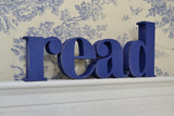 READ, 3D Wooden Letters:  Hand Distressed Wooden Letters