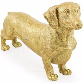 Animal Sculpture - gold dachshund
