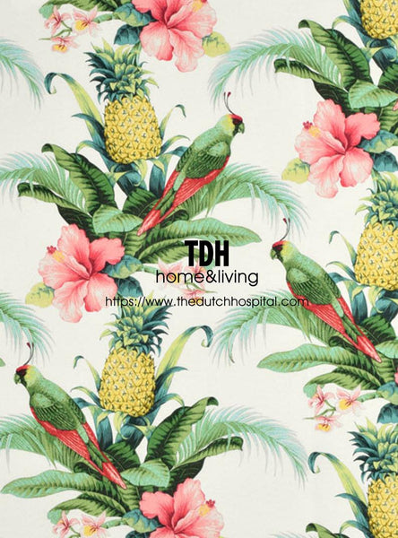 Tommy Bahama OUTDOOR Fabric - Pineapple Hawaii Print - Beach Bounty - Lush Green
