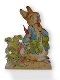 Beatrix Potter  Peter Rabbit Jemima Duck – Table Centrepiece –  Free Standing Wooden Figures