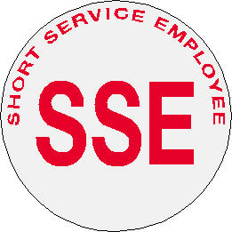 Reflective Short Service Employee Stickers