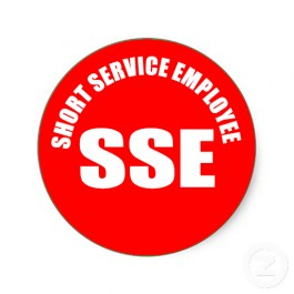 sse short service employee sticker