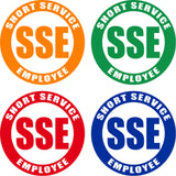 "Various Color Short Service Employee (SSE) Hard Hat Sticker - 1.5"" or 2"" in diameter"