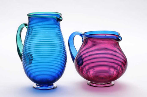 Large Venetian glass jugs by Bob Crooks at Iona House Gallery