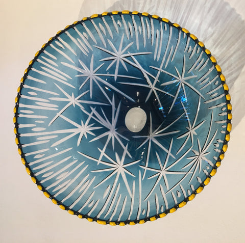 Glass Voyage bowl by Bob Crooks at Iona House Gallery