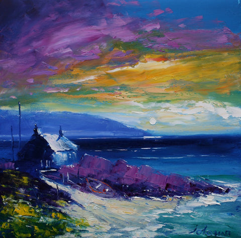Mull of Kintyre painting by Jolomo at Iona House Gallery