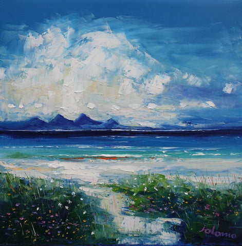 Isle of Gigha with the Paps of Jura by Jolomo at Iona House Gallery