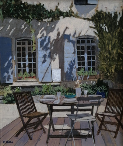 Cafe scene by Mike Hall at Iona House Gallery