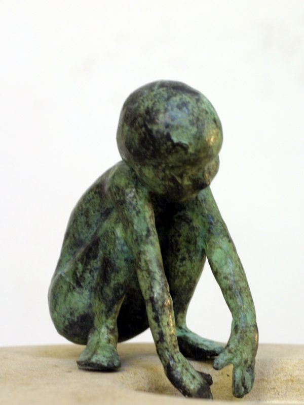 Alison Bell limited edition bronze sculpture on ancaster at Iona House Gallery