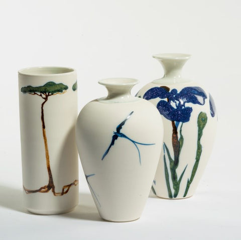 Alan Newton 'Porcelain Vases'- H4-5in (10-12.5cm)