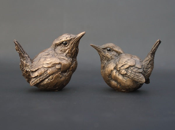 Simon Griffiths 'wrens' cold cast bronze