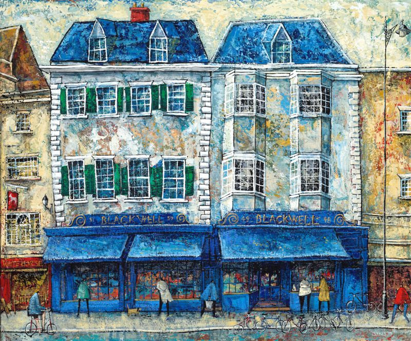 Adrian Sykes 'Blackwell's Bookshop, Oxford' 50x60cm Limited Edition Print of 250