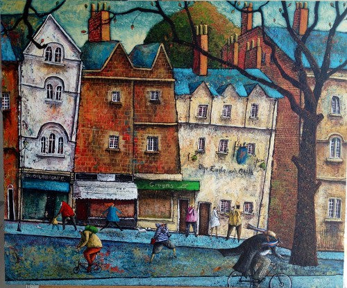 Adrian Sykes 'In the footsteps of Great men - Oxford' 50x60cm Limited Edition of 250