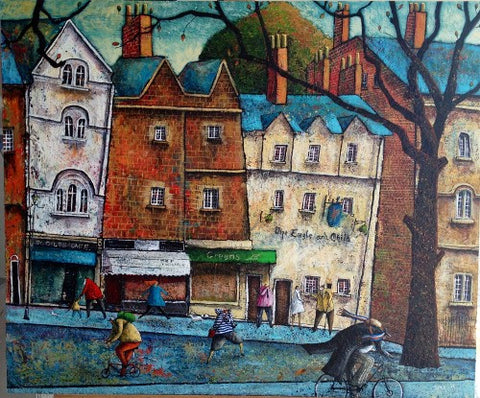Adrian Sykes 'In the footsteps of great men - Oxford' 50x60cm Signed Limited Edition of 250