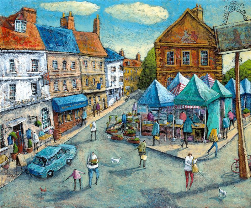 Adrian Sykes 'Market Day, Woodstock' 50x60cm Limited Edition Print of 250