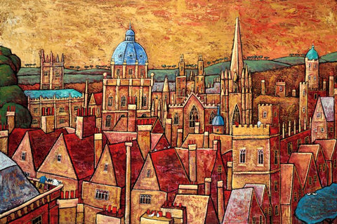 Adrian Sykes 'Oxford Dreaming' 46.5x70cm Signed Limited Edition Print of 250