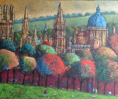 Adrian Sykes 'Oxford Spires' 50x60cm Signed Limited Edition of 250