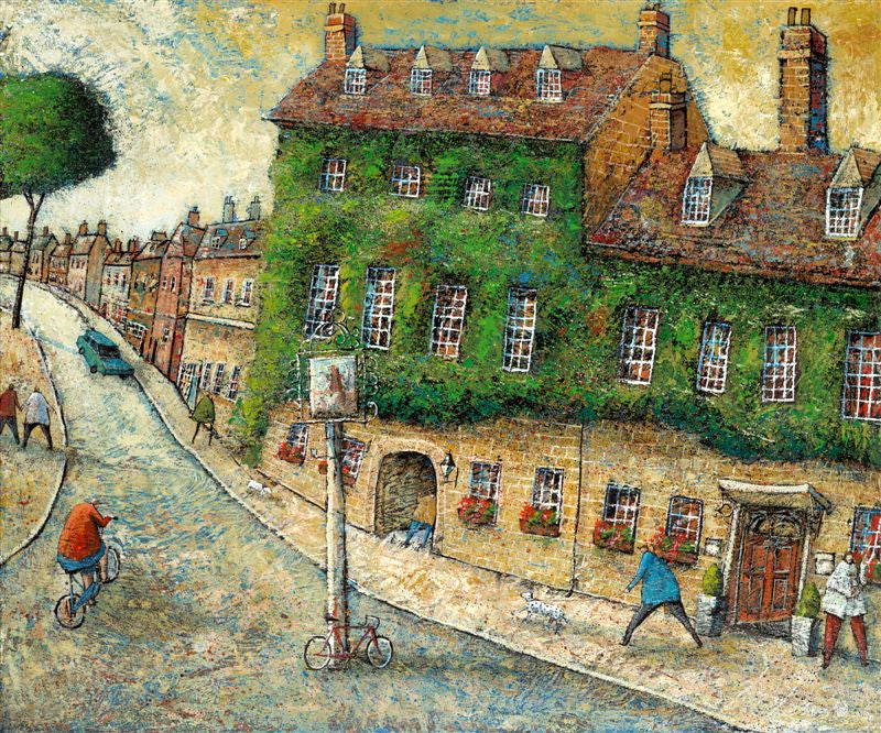 Adrian Sykes'The Bear Hotel, Woodstock' 50x60cm Limited Edition Print of 250