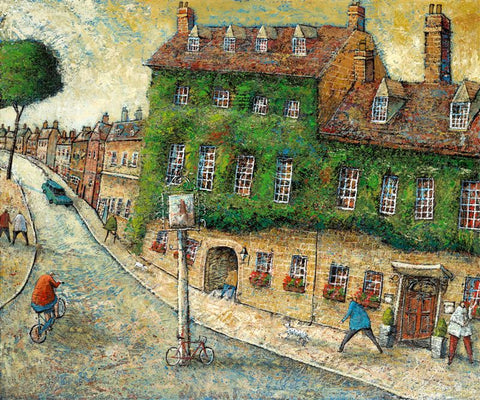 Adrian Sykes'The Bear Hotel, Woodstock' 50x60cm Signed Limited Edition Print of 250