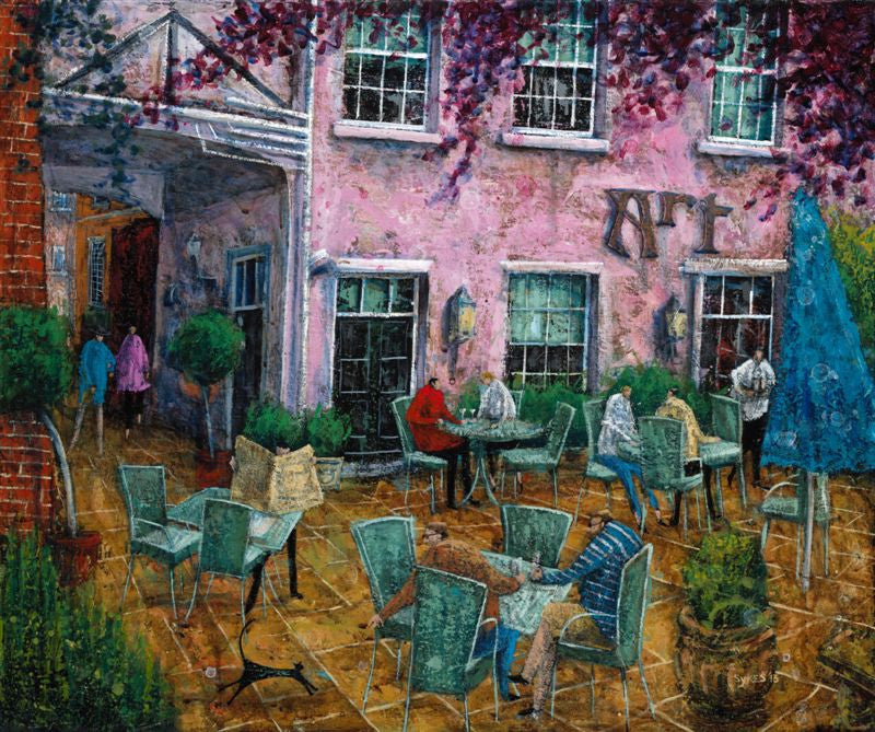 Adrian Sykes 'The Feathers Courtyard' 50x60cm Limited Edition Print of 250
