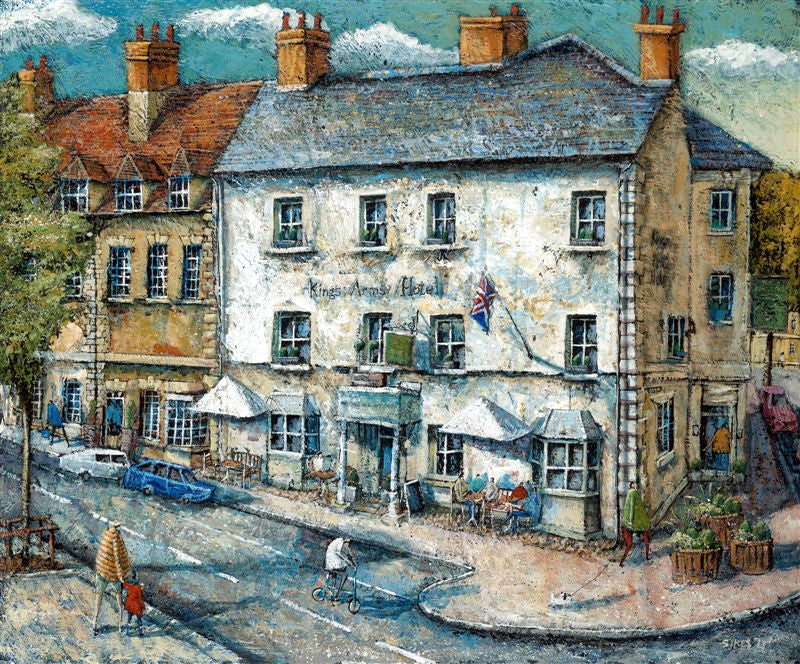 Adrian Sykes 'The Kings Arms Hotel, Woodstock' 50x60cm Limited Edition Print