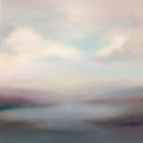 Adrienne Byrne 'Air of Calm' oil on canvas 100x100cms
