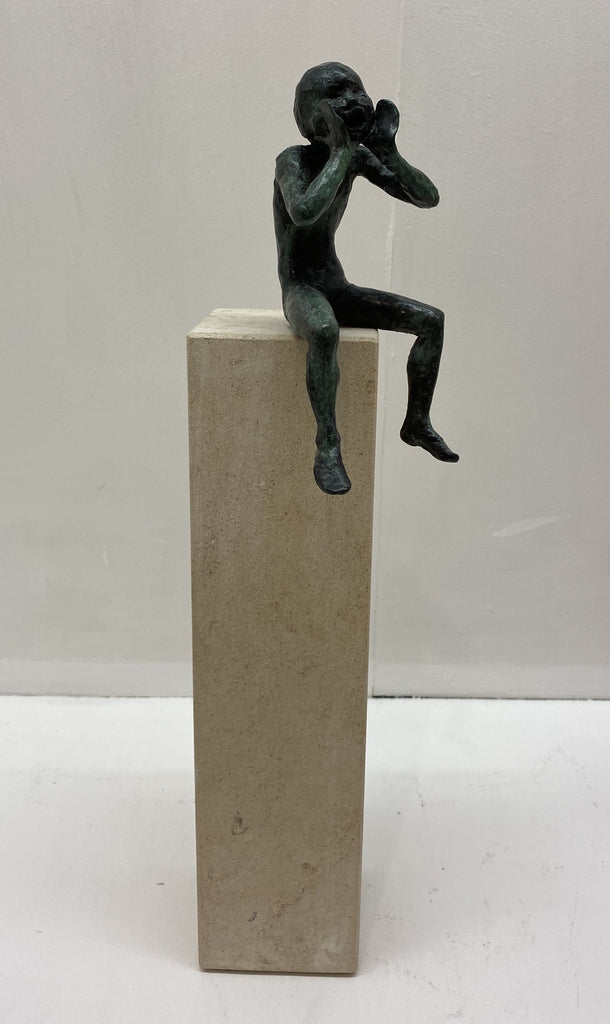 Alison Bell 'Echo' Bronze on Ancaster Limited Ed 16/25 40x12x12cm