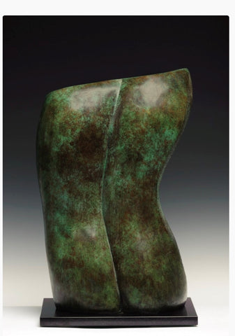 Aly Brown 'Male Torso' bronze 52x18x32cms