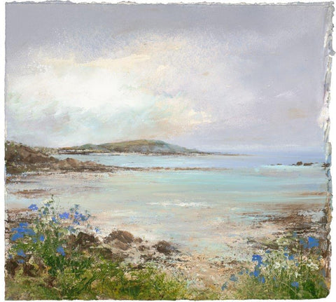 Amanda Hoskin 'Soft colours over the Scillies' mixed media on paper 24x26cm