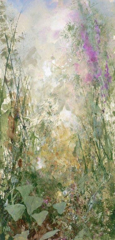 Amanda Hoskin 'Summer Flowers' 32,5x15.5cm mixed media on paper