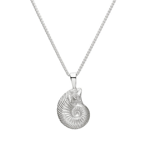 Wild and Fine (Jessica Hickman-Woolcott) Sterling Silver Medium Ammonite 5x15mm
