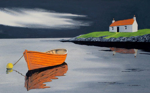 Anthony Barber 'After the Rain has Passed, Isle of Harris' acrylic on watercolour paper 31x51cm
