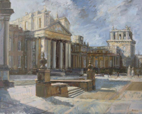 Anthony Morris RP NEAC 'Blenheim Palace' oil 61x76cm